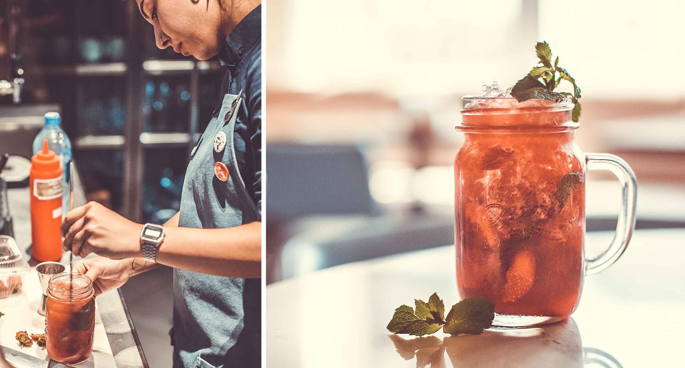 создание коктейлей профессиональным барменом